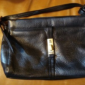 Etienne Aigner black leather crossbody bag, MWOT